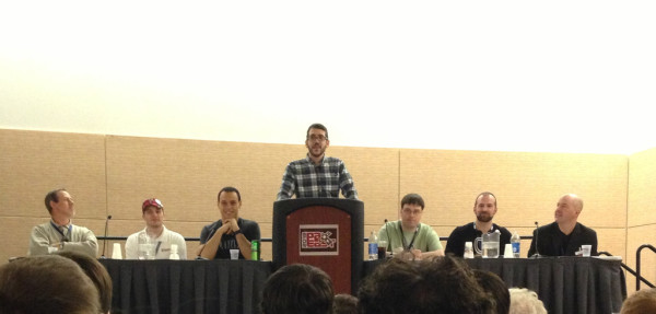Photo Courtesy of BoardGameGeek - http://boardgamegeek.com/blogpost/18123/pax-east-2013-panel-digital-board-games From Left To Right: Mark Kaufmann, Colby Dauch, Justin Gary, Bradley Cummings, Jeff Dougherty, Sean Wilson, Julian Murdoch