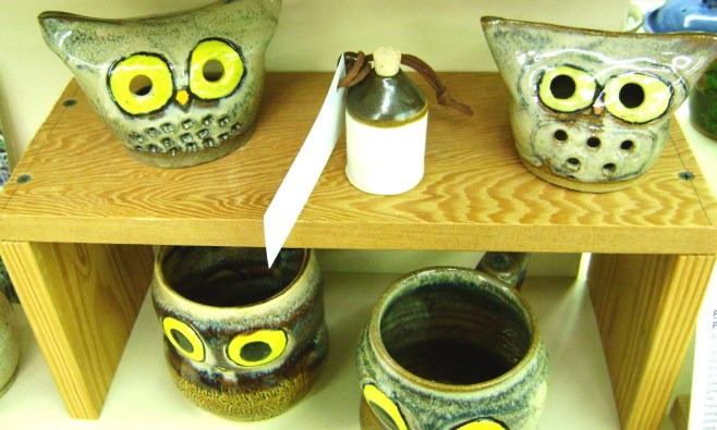 115 - Peggy Tague - pottery owls