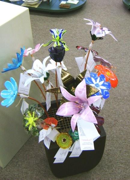 51 - D Gryder - fused glass flowers