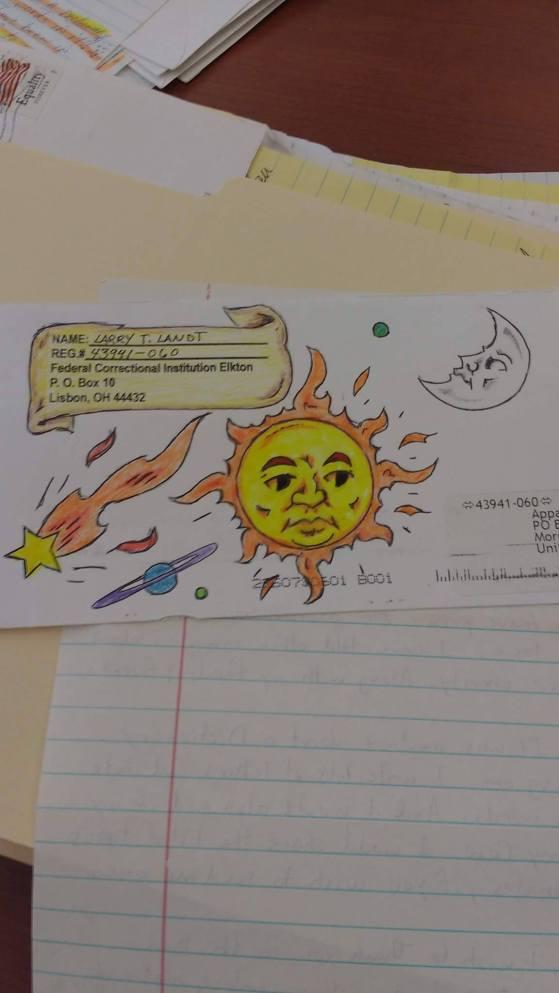 envelope art sun