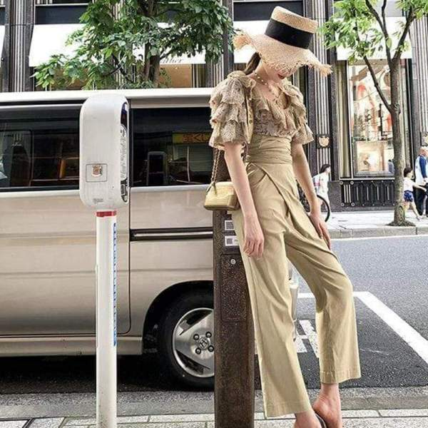 Arltin Nude Pants And Jumpsuit