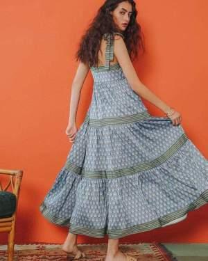 Tavon Printed Long Dress