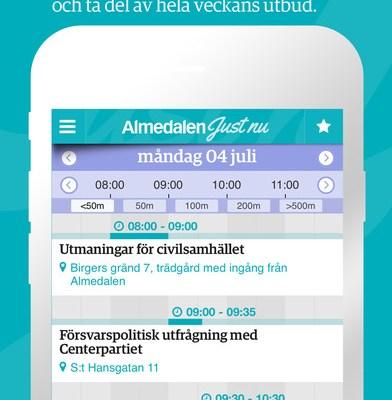 App för Almedalen