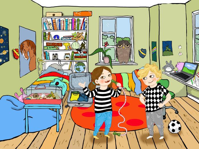 Smart appspel med resetema för barn 6-9 år