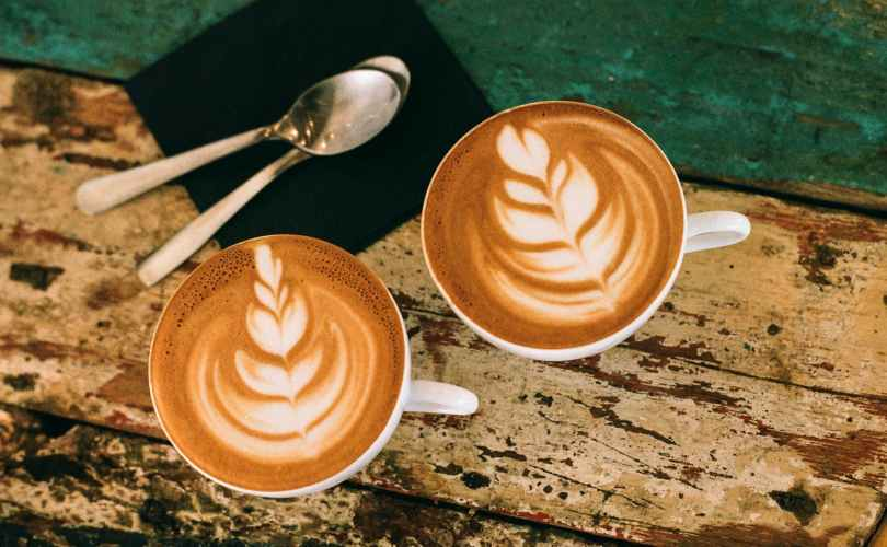 two coffee latte