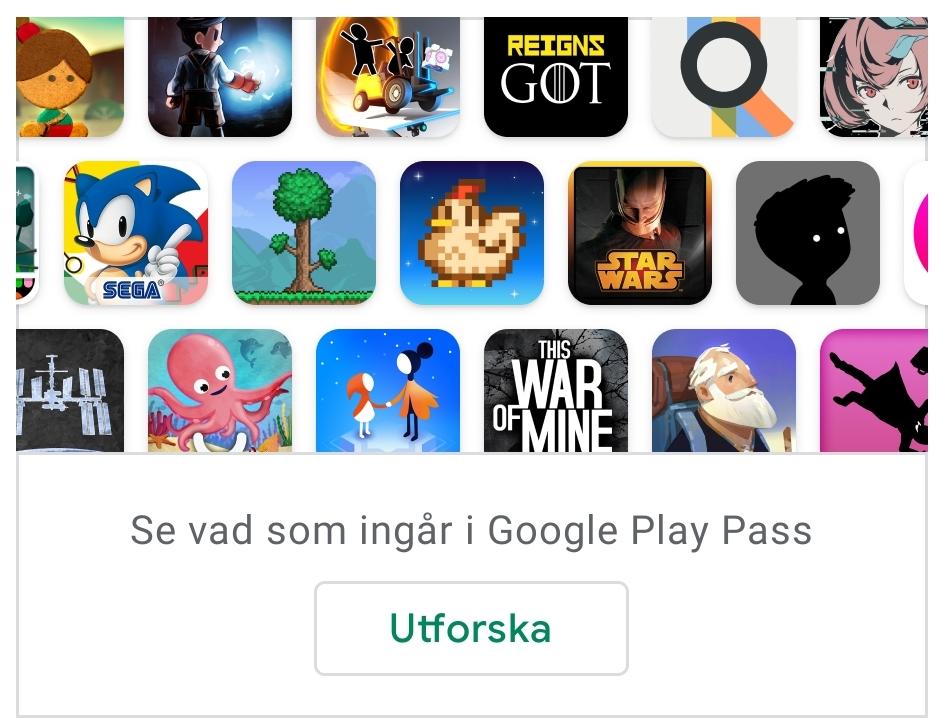 Google Play Pass – tillgång till mängder av roliga spel till din Android