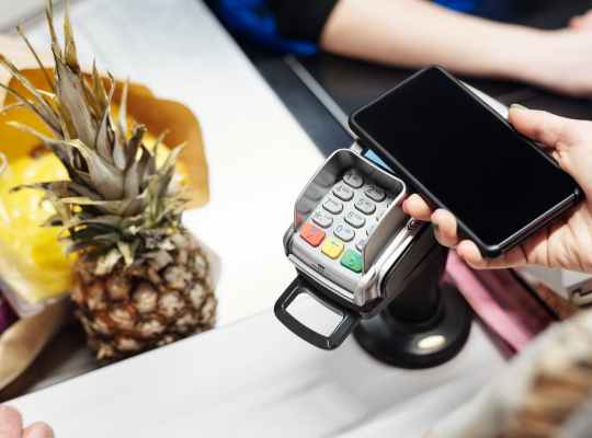 paying with a smartphone