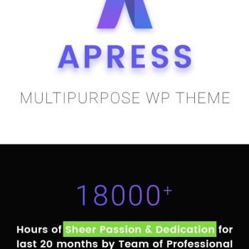 70% OFF-Apress WordPress Responsive Multi-Purpose Theme 2020