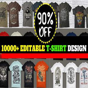 10000+T-shirt Design Mega Bundle Cheap Price