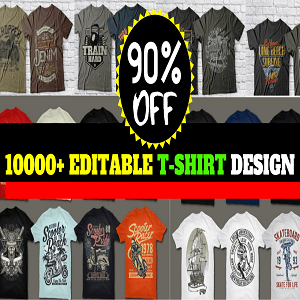 10000+T-shirt Design Mega Bundle Cheap Price