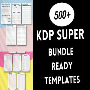 KDP super bundle 500+ ready templates KDP Cheap Price