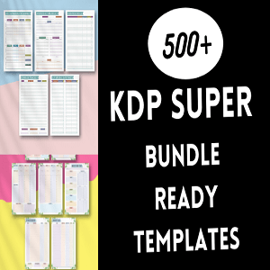 KDP super bundle 500+ ready templates KDP Cheap Price
