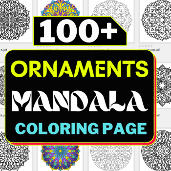 New 100 Vector Mandala Ornaments Coloring Page Very Cheap Price