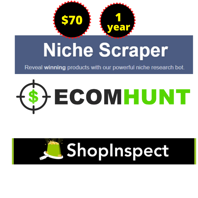 Nichescraper-Ecomhunt-shopinspect-Sell Cheap Price 2021 For 1 Years