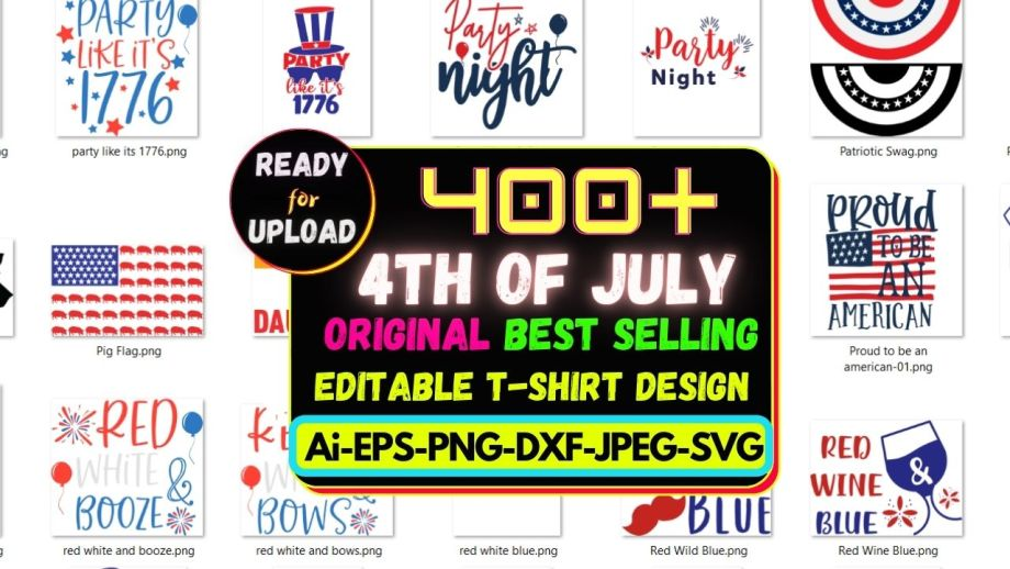 4th of July NEW T-SHIRT DESIGN MEGA BUNDLE CHEAP PRICE