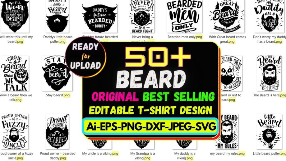 50+ Beard Best Selling T-shirt Design 2021 Cheap Price