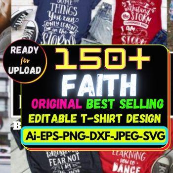 150+Faith Best Selling T-shirt Design Bundle Cheap Price