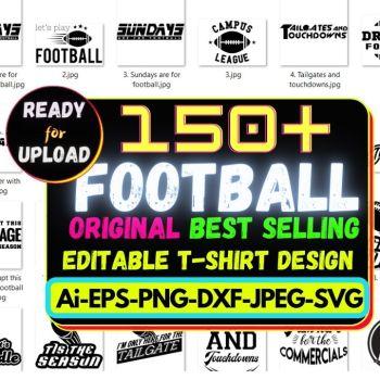 150+Football Best Selling T-shirt Design Bundle Cheap Price 2021
