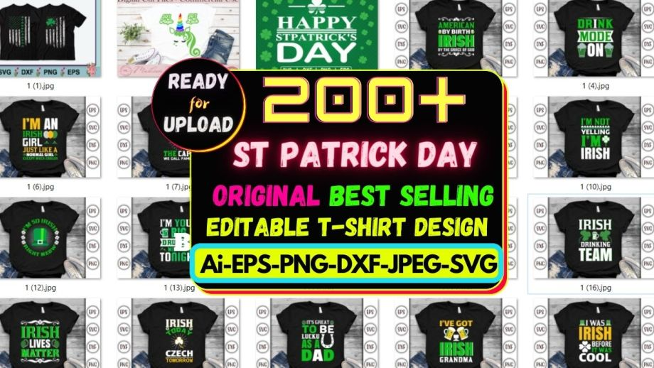 200+ ST Patrick Day Best Selling T-shirt Design Bundle Cheap Price
