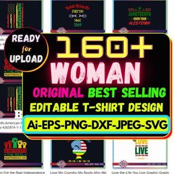 160+Woman Best Selling T-shirt Design Bundle Cheap Price