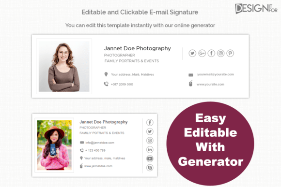 Give your em200+High-Quality Editable Email Signature Design Template Cheap Priceails a fresh new look! Introducing a modern and professional set of email signatures for your business or personal use.