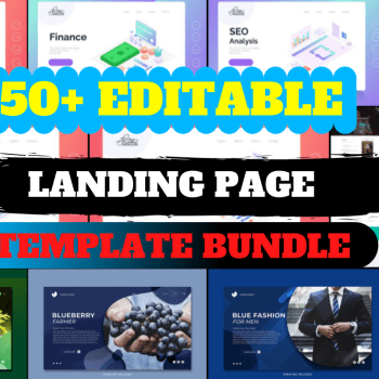 50+Editable Landing Page Template Design Cheap Price