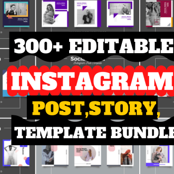 300+Editable Instagram Post Story Template Design Cheap Price