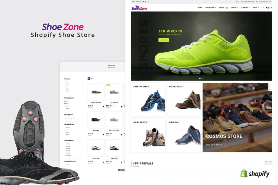 Best Shoe Zone | Shopify Theme for Shoe, Footwear Store Cheap Price