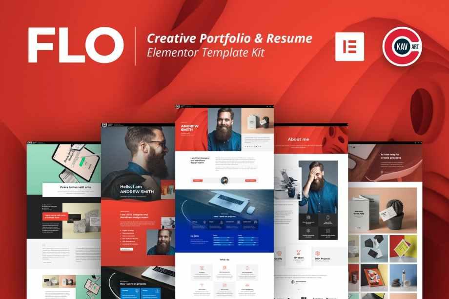 CFLO-Creative Portfolio & Resume Template Kit cheap price