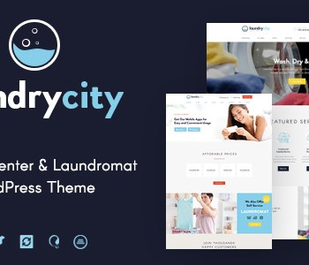 Laundry City | Dry Cleaning Services WordPress Theme Cheap Price