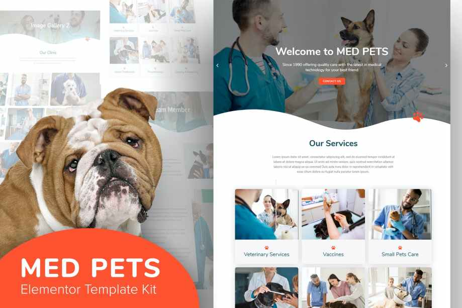 Med Pets - Template Kit for Elementor cheap price