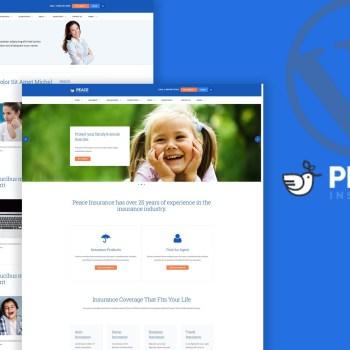 Peace–Insurance Agency WordPress Theme cheap price