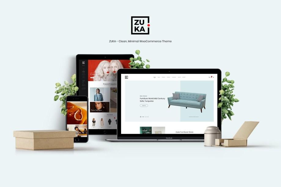 Zuka Clean Minimal WooCommerce Theme cheap price