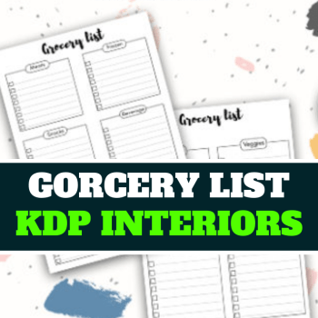 Editable Grocery List KDP Interiors Ready For Upload