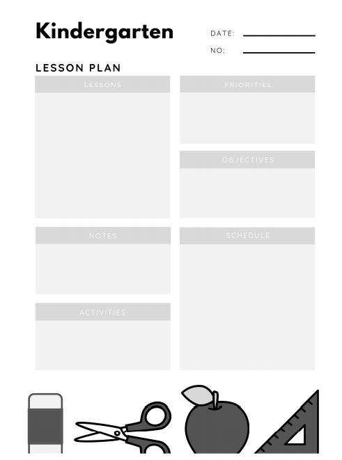Kindergarten Lesson Plan KDP Interior Ready For Upload