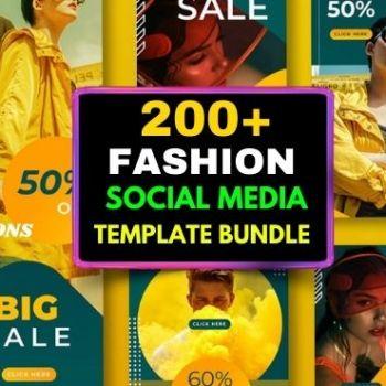200+ Fashion Social Media Template Bundle Cheap Price
