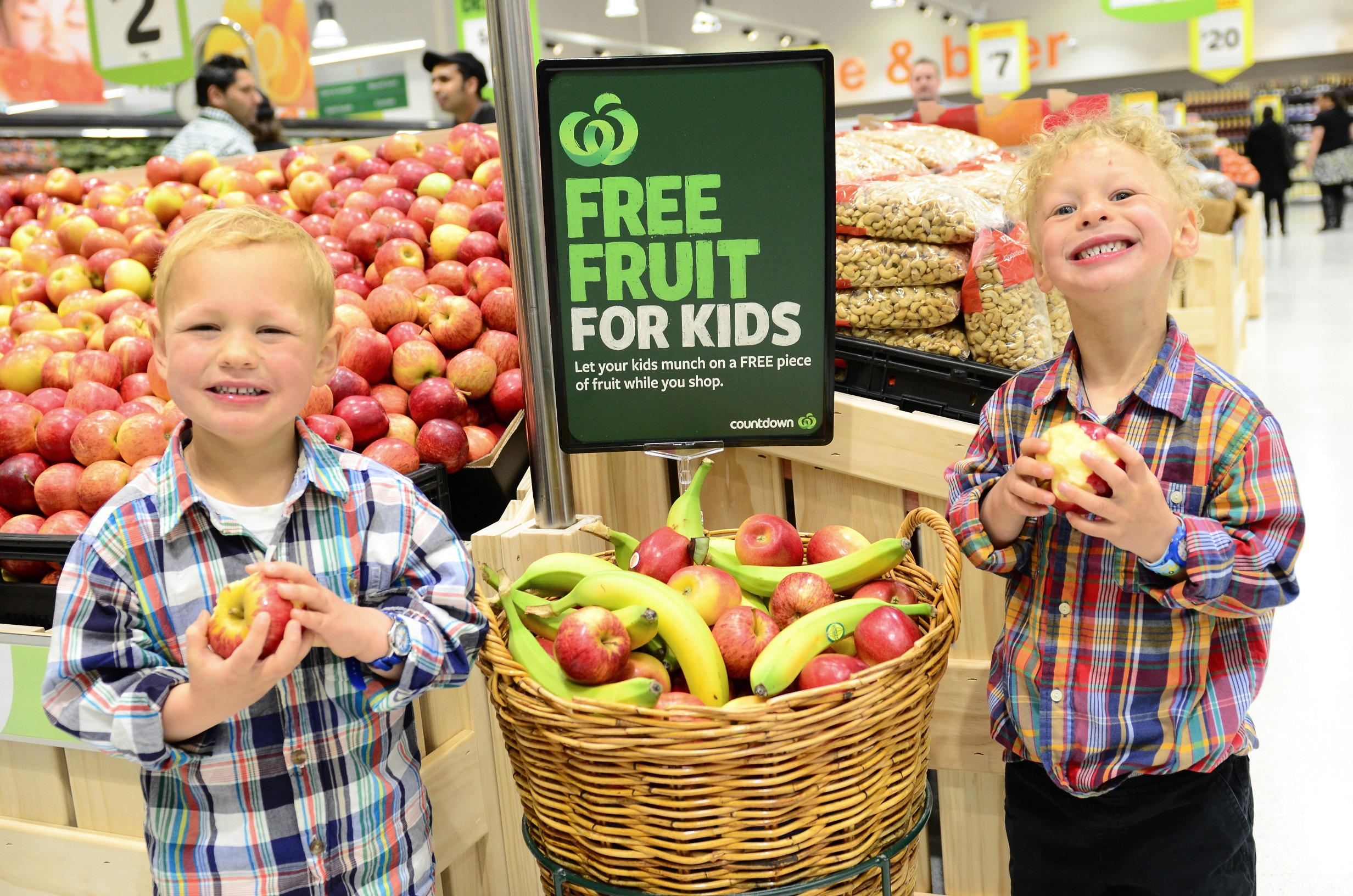 Free Fruit For Kids At Countdown Turns Two