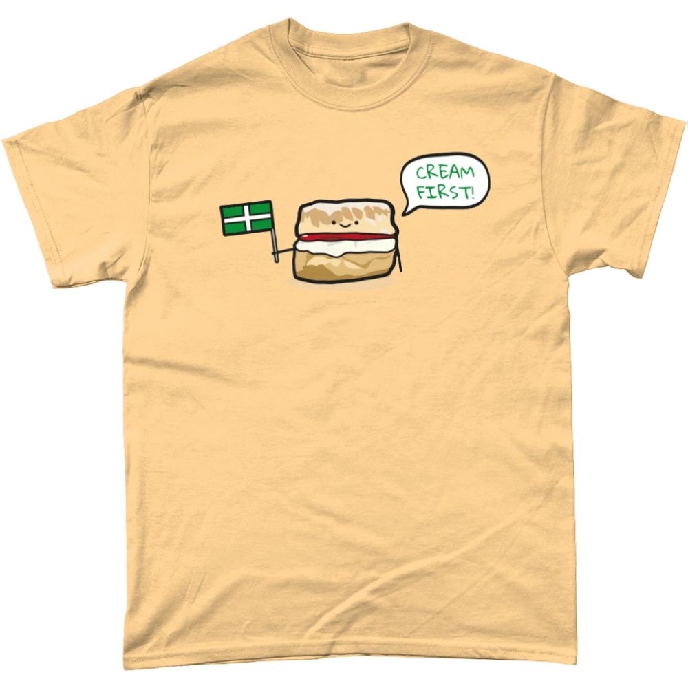 Cream First Scone T-Shirt Design Yellow Haze
