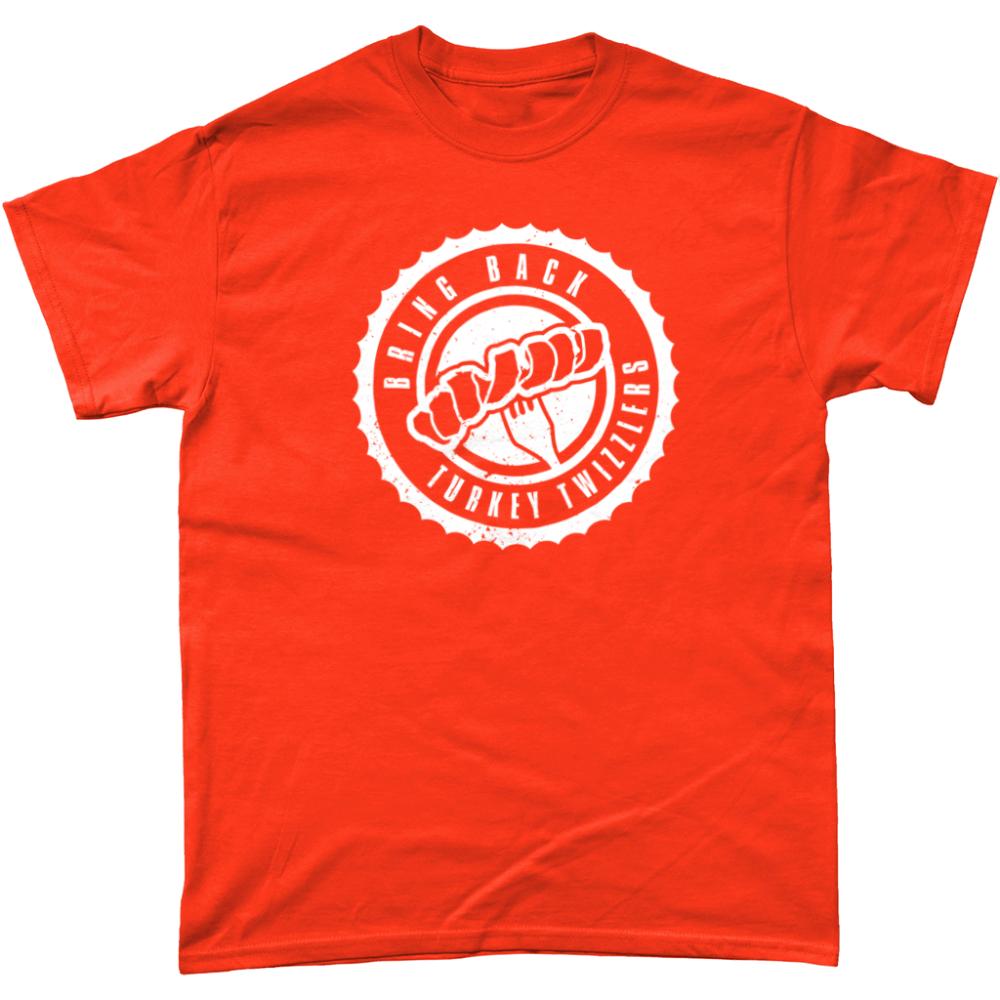 Bring Back Turkey Twizzlers T Shirt Design Orange