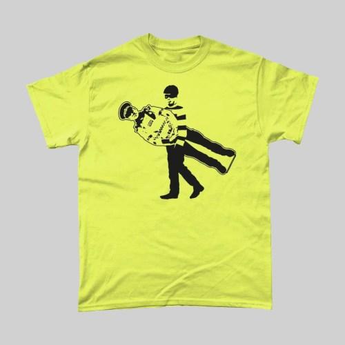 Cardboard Cop Policeman T Shirt