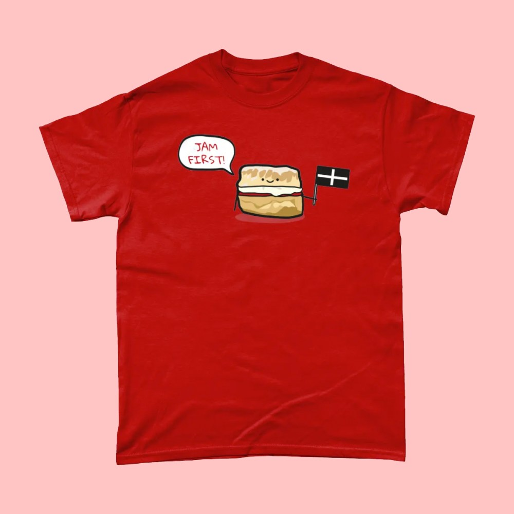 Jam First Scones Cornwall T Shirt
