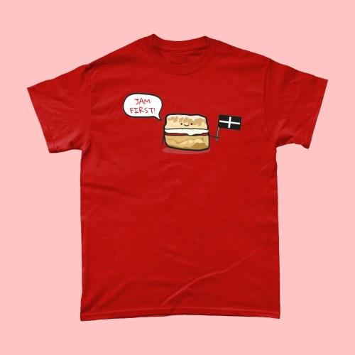 Jam First Scones Cornwall T Shirt