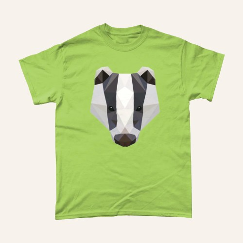 Low Poly Badger British Wildlife T Shirt