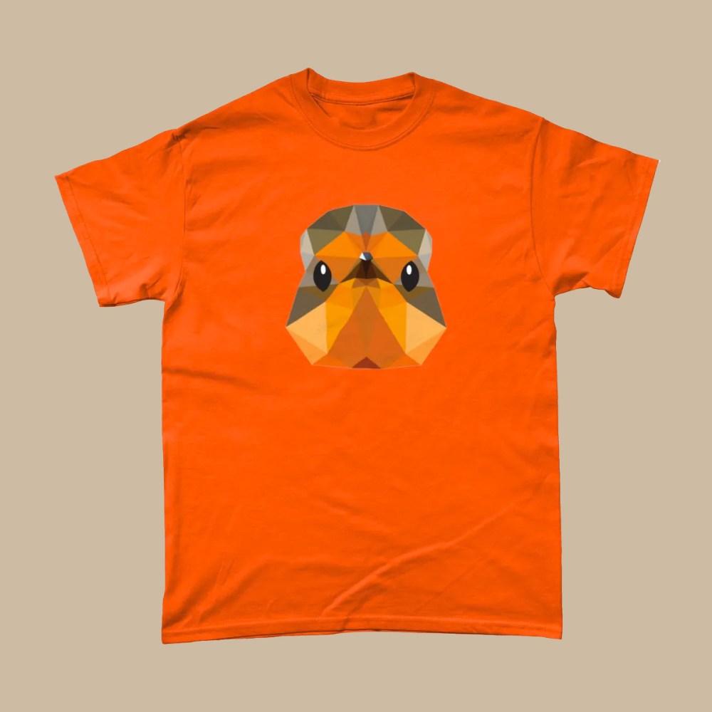 Low Poly Robin British Bird T Shirt