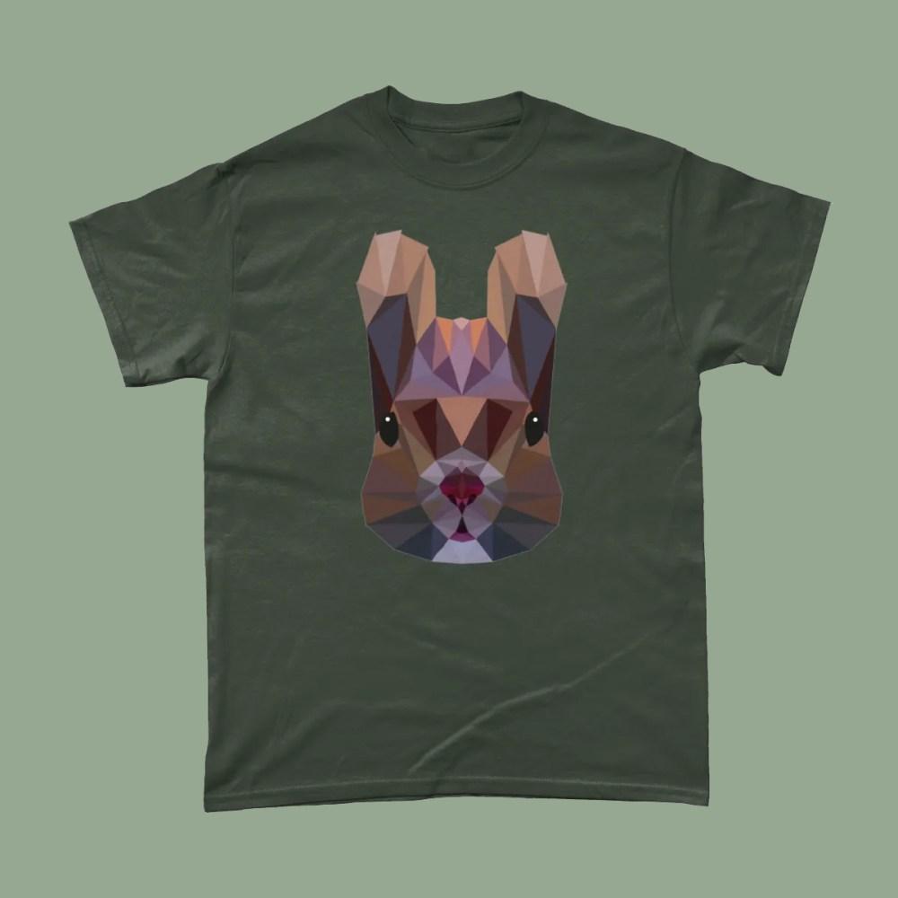 Low Poly Squirrel British Wildlife T Shirt