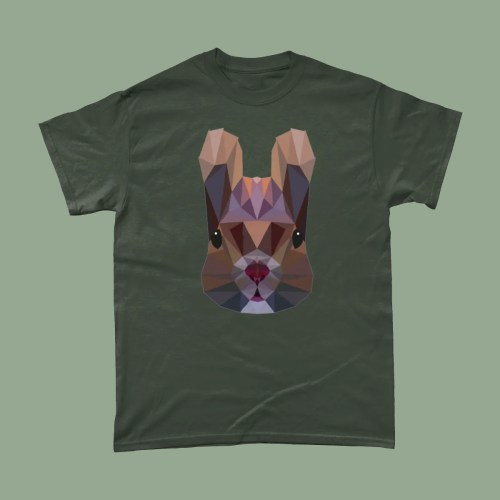 Low Poly Squirrel British Wildlife T Shirt