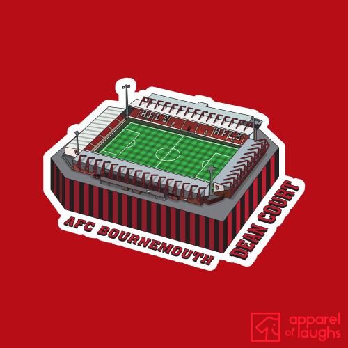 AFC Bournemouth Football Stadium Dean Court T Shirt Design Red