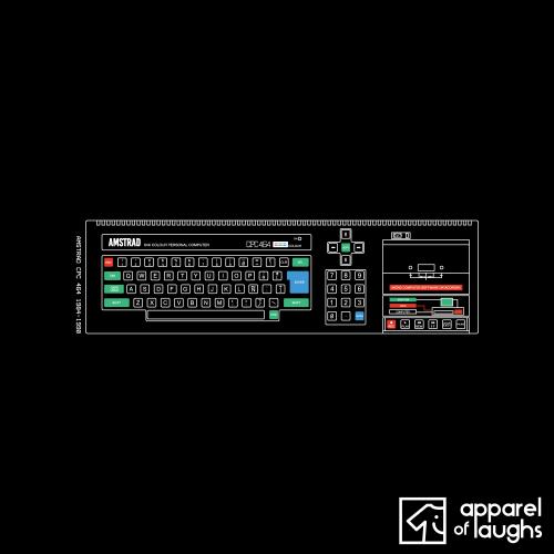 Amstrad CPC 464 T Shirt Design Black