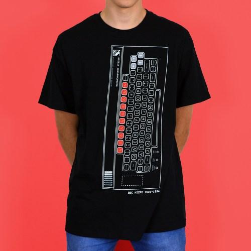 BBC Micro Personal Computer Retro T Shirt Design Black