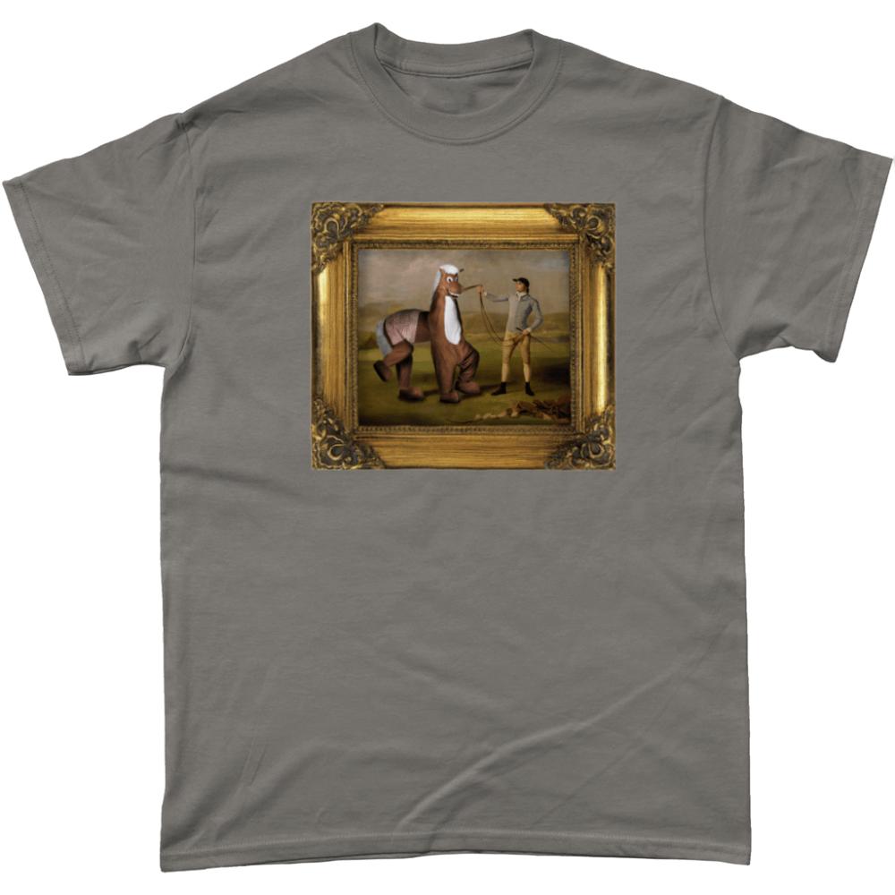 Pantomime Horse Panto Painting T Shirt Charcoal